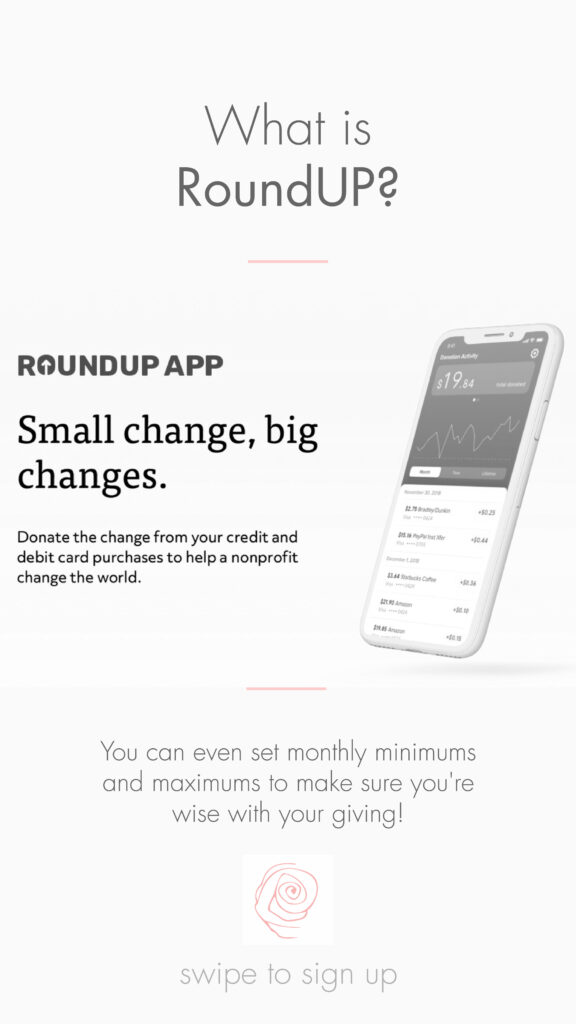 Image explaining what RoundUp App is