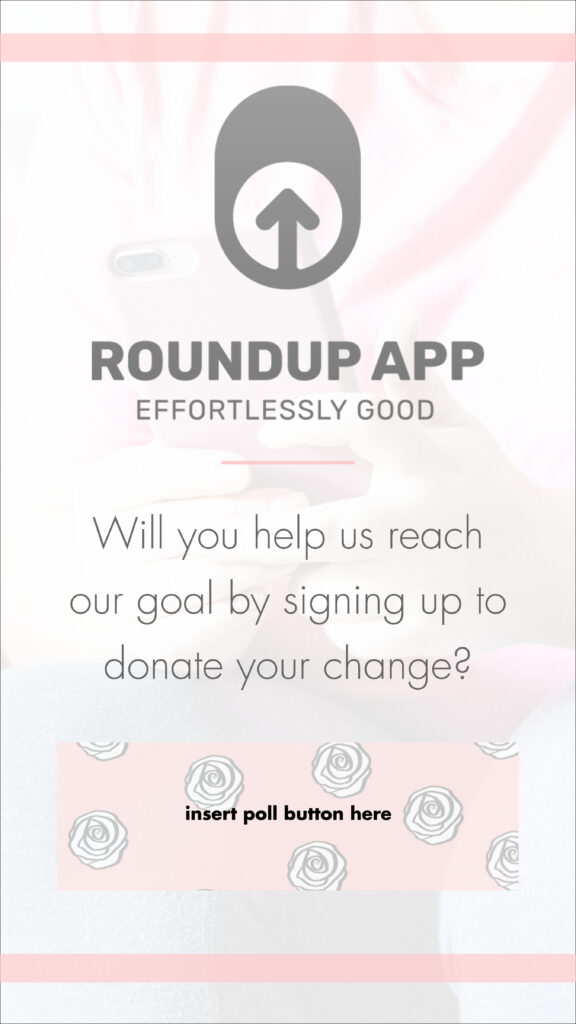 Lane of Roses image introducing RoundUp App donor goal